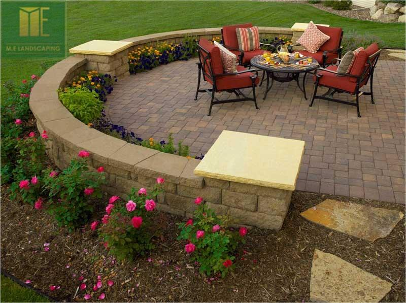 2 decks with interlock and landscaping design toronto for Landscaping bricks