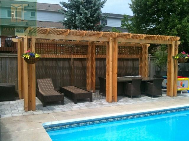 Cedar deck and pergola design project in toronto hd walls find