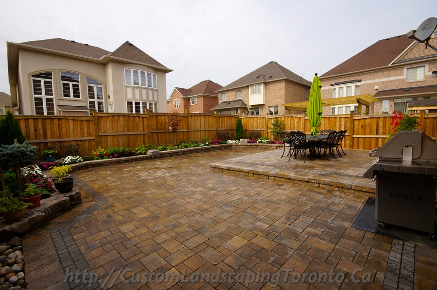Custom Landscaping Toronto backyard interlock05 Project Galleries