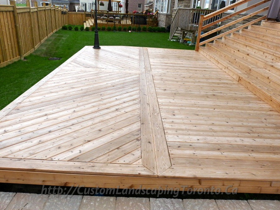 Custom Landscaping Toronto cedar deck03 Project Galleries