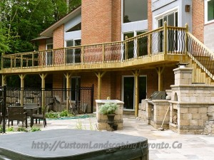 Custom Landscaping Toronto flagstone landscaping03 300x225 Use Armor stone landscaping to protect your home