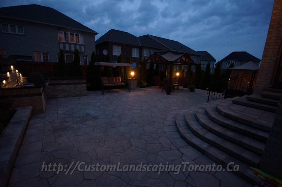 Flagstone paving with driveway and outdoor kitchen & Flagstone paving with driveway and outdoor kitchen - Toronto ... azcodes.com