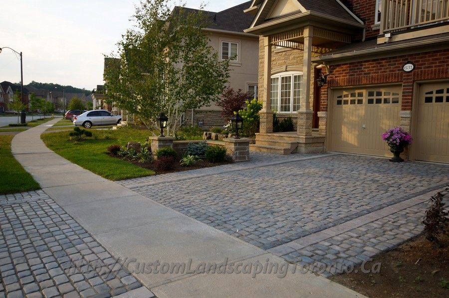 Custom Landscaping Toronto interlock driveway and landscaping06 Project Galleries