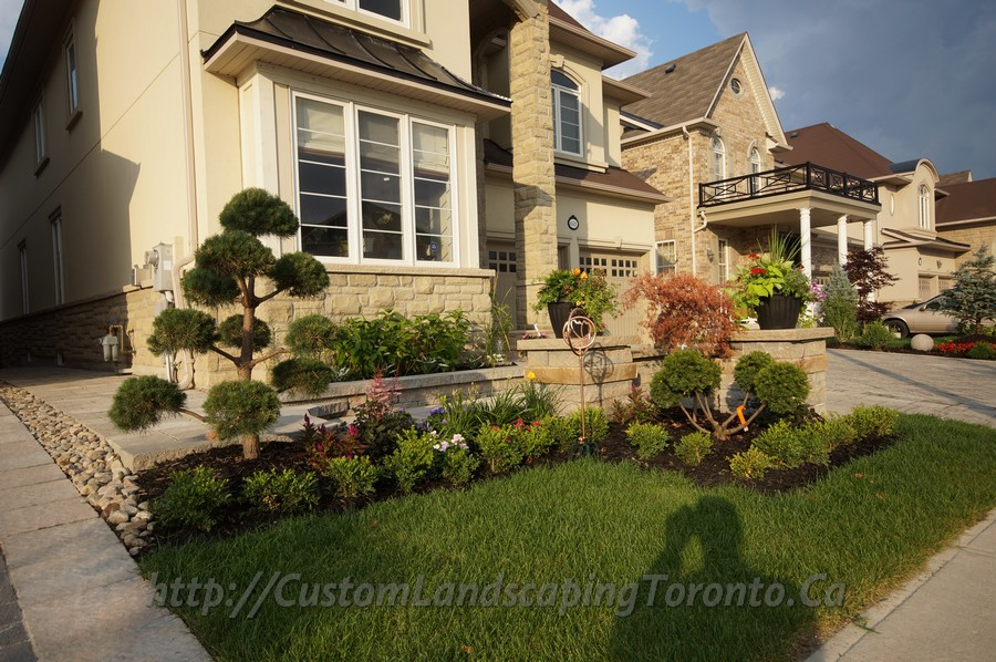 Custom Landscaping Toronto interlock driveway and patio deck01 Project Galleries