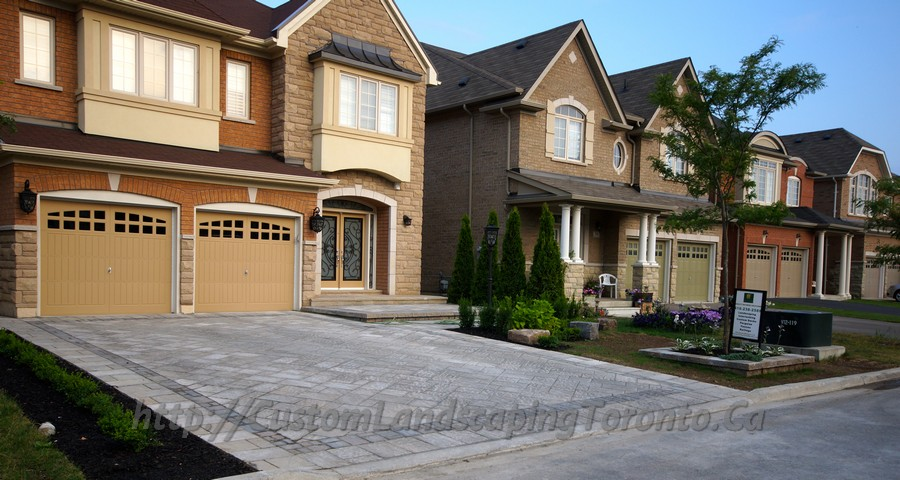 Custom Landscaping Toronto interlock driveway and pool deck01 Project Galleries