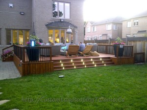 Custom Landscaping Toronto patio deck with landscaping01 300x225 Planting the right grass in Ontario