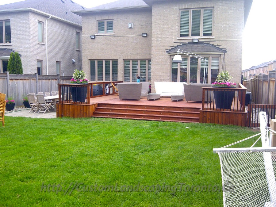 2 decks with interlock and landscaping design toronto for Garden design ideas toronto