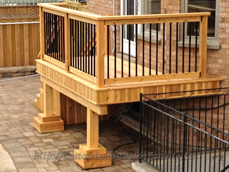 Custom Landscaping Toronto walk out deck03 Project Galleries