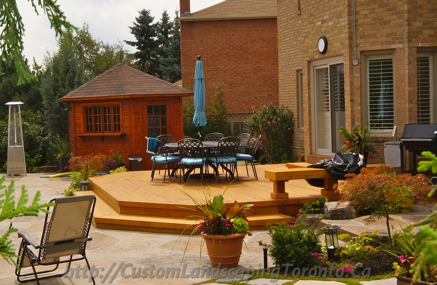 Landscaping and patio deck design toronto landscaping for Custom landscape design