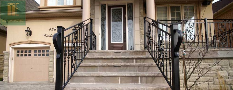 custom-landscaping-toronto-flag-stone-railings