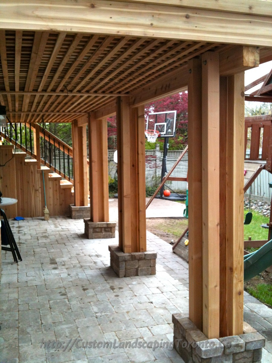 M.E Landscaping provides Toronto with Landscaping ... on Under Deck Patio Ideas id=88044