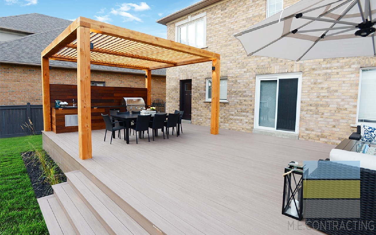 Composite Deck Amp Pergolas With Outdoor Kitchen Toronto